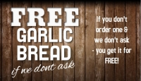 Garlic Bread  Free if we don't ask