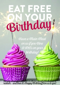 Dine Free On Your Birthday - Ra