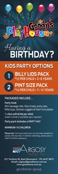Party Packages Menu